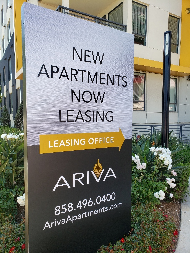 300 - Arive Apartments - Now Leasing Sign