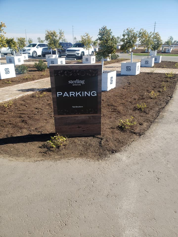 460 - Toll Brothers Streling Grove - Parking Sign